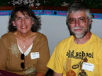 Debbie Flores '77 & husband Rick Lago - notice his Pee Chee t-shirt!