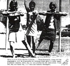 Cheerleaders for 68-69. Class of 69: Jeanette Holwegner. Class of 70: Susan Ray, Liz Tobia