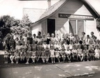 Class of 1949 Kindergarten class taken in 1937 - Mrs. Page (teacher)- Ralph Bowles is in the back row 6th boy from R side. Note: