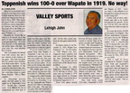 Toppenish vs Wapato football rivalry history - 99 years!