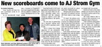 A.J. Strom gym to get new scoreboards - 2011
