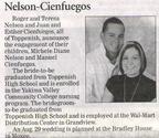 Michele Nelson ('04) & Manuel Cienfuegos ('01) engagement announcement - Dec 2008