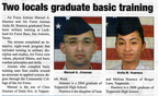 2 alums graduate from basic training - Manuel Jimenez ('04) and Anita Huereca ('08)