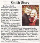 Tyler Story Engagement article - Feb 2012 -  Class of 2005
