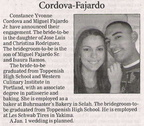 Constance Cordova ('07) & Miguel Fajardo ('07) Engagement announcement - Dec 2009