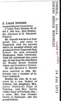 J. Louis (Lou) Immele Obituary - 1973