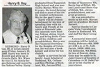 Harry Gay obituary - Feb 2009 - Class of 1936
