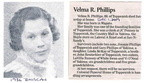 Velma (Rentschler) Phillips obit - Dec 2007 - Class of 1936