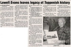 Lowell Evans ('41) article - Oct 2008