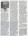 Jack Thorington obituary - Dec 2009 - Class of 1941