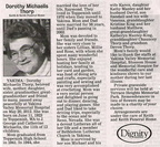 Dorothy Michaelis Thorp (1941)obituary - May 2012