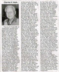 Charles Veals obituary - Feb 2010 - Class of '41 & former school personnel