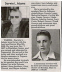 Darwin Adams Obituary - 2006