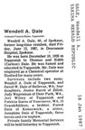 Wendell Dale obit - 1987
