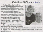 Paul ('47) and Dorothy (Stephens-'45)ORTOLF - 60th Anniversary - 2007