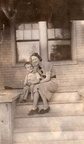 Ralph Bowles ('49) w/mother, Edna Bowles on front steps of home in Toppenish