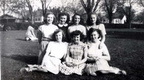 Back Row: Bette Lawson, Marcella Britton, Nadine Filer, Jeannine Brown. Front Row: Margaret Andreas, Betty Stoops, Betty Squibb-