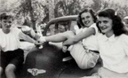 Nadine Filis, Betty Stoops, Jeannine Brown - Class of 1950