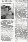 Guy Brownlee obituary - March 2010 - Class of 1953