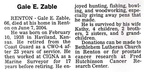 Gale Zable obit - June 2004