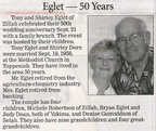Shirley (Dorn) Eglet - 50th Wedding Anniversary - Sept 2008 - Class of 1957