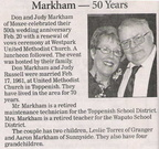 Don & Judy Russell Markham - 50th Anniversary - both Class of 1958