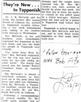 Dr. & Mrs. McCurdy article - Toppenish Review - Summer 1956. Son - Jack Dickey (Class of 1958).