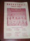 Basketball Program - 1963