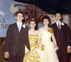 1963 Prom  John Schmella, Theresa Bradley, Janet Burns, and Tom Layman