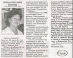 Delores Gonzales Sanchez obituary - June 2010 - Class of 1965