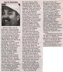 Joe Gonzales obituary - August 2011 - Class of 1965