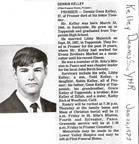 Dennis Kelley obit - Jan. 1987