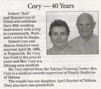 Sharon (Schelert) Cory ('67) - 40th Wedding Anniversary announcement - April 2009