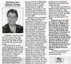 Barbara (Balzer) Drake obit March 2008 -  Class of 1967