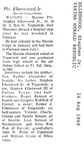 Stephen Ellenwood obituary - August 1968