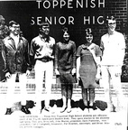 Spring 1968 - ASB Officers for 1968-69. Class of 1969: John Mares, Carol Campbell, Brian Brazil. Class of 1970: Pat Bouchey. Dav