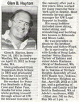 Glen Hayton obituary - April 2012 - Class of 1970