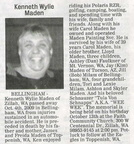 Ken Maden obituary - Oct 2009 - Class of 1970