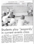 Contemporary World Problems class-Jan 1971  Can someone ID the 2 students in the front of the class?