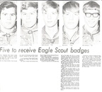 Buena Eagle Scouts -1971 Picture and article made front page of Toppenish Review- Roger Althoff and Ken Schmidt '71, rest are '7