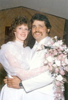 Dan Walker and his wife, Shelby, on their wedding day.