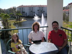 Dan Walker, and his wife Shelby and daughter, Megan, on vacation in Florida.