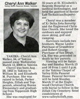 Cheryl Purchase Walker obituary - March 2008