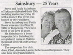 Steve Sainsbury - 25th Wedding Anniversary - May 2008 - Class of 1972