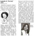 Isabelle Goudy obit - 1997