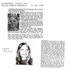Debbie Meyers obituary - 1980