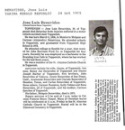 Joe Benavides obituary - 1985