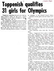 Girls Jr. Olympics - May 1968