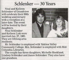 Neal Schlenker - 30 Year Wedding Anniversary