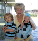Sherry (Bowles) Dahlin ('76) with her 2 grandchildren: Ainsley Kate-5 mos & Isaiah-2-1/2 - Oct 2008
